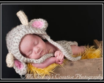 Photo Prop Cow and Diaper Cover Crochet Pattern pdf 607
