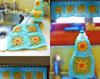 Flower Kitchen Set Crochet Pattern PDF 533