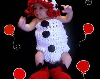 Clown Crochet Pattern pdf 623 Photo Prop