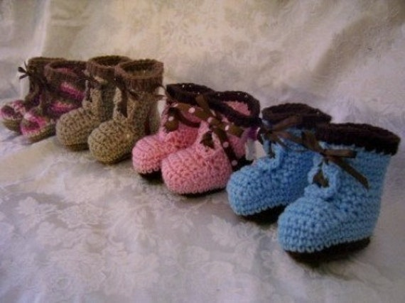 Baby Work Boot Booties Crochet Pattern pdf by ...