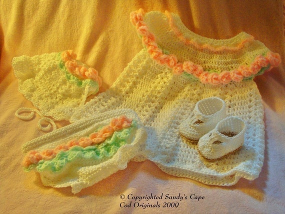 PDF 135 Adorable Crochet Dress Set for Summer 0 to 6months Crochet Pattern Instructional Video Included