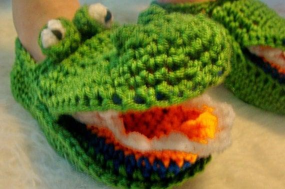 Alligator Slippers Crochet Pattern PDF 485
