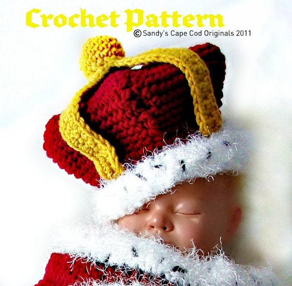 The Little Prince or Princess that Rules the Castle Cocoon and Hat Crochet Pattern PDF530