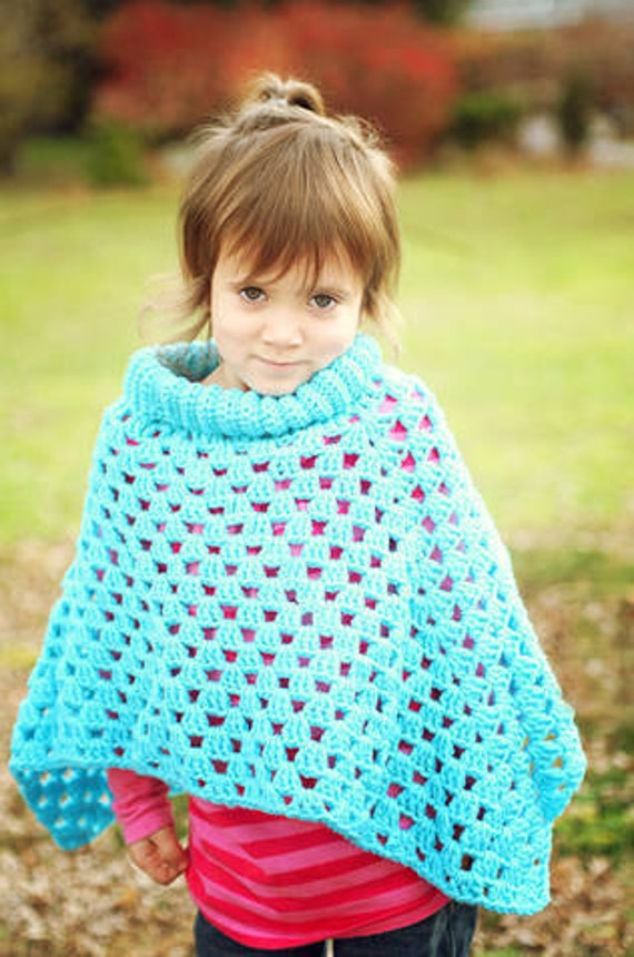 Mommy and Me Poncho Set Crochet Pattern PDF 490