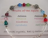 Fruits of the Spirit Bracelet - Swarovski Crystals. Free shipping to US locations, reduced rates  to all other countries.