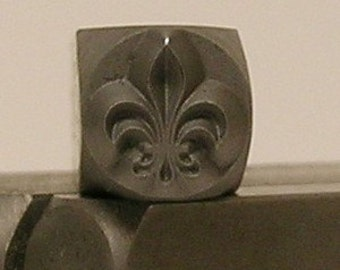 The Urban Beader exclusive 6mm Fleur De Lis Design/Decorative Stamp for Metal Jewelry Stamping