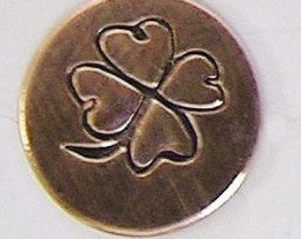 Metal Steel Stamps CLOVER Design Stamp Jewelry Stamping - The Urban Beader