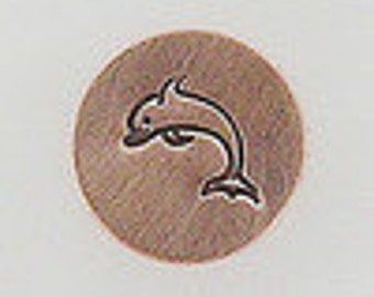 Metal Steel Design Stamps DOLPHIN Decorative Stamp for Metal Jewelry Stamping The Urban Beader