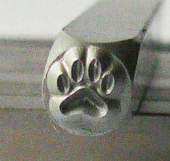 Metal Steel Stamps PAW PRINT Design Stamp Jewelry Stamping - The Urban Beader