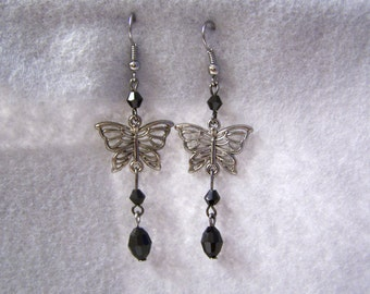 Butterfly Charmed Dangle Earrings