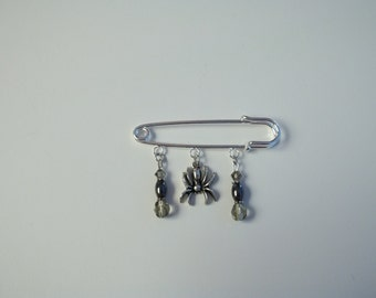 Black Widow Kilt Pin Brooch