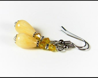 Summer Sunshine Teardrop Earrings