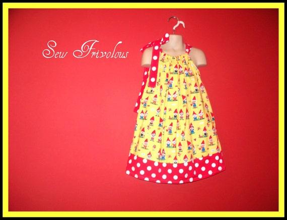 Girls size 10 Pillowcase Dress Gnomes RTS SALE