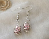 Box in a Cage Earrings Pink