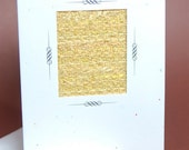 """Get Well Soon Card """"Repairing the Weave"""" - Hand Woven Get Well Card"""