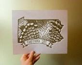 Pennsylvania State Bird- Ruffed Grouse 8 x 10 Print