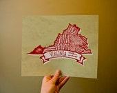 Virginia State Bird- Northern Cardinal 8 x 10 Print
