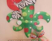Santa Hat Fleur de Lis Welcome