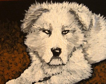 ORIGINAL acrylic ACEO painting... Title-Dillon