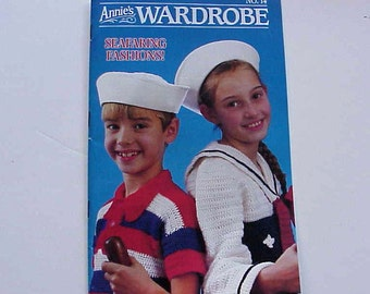 SALE - Annie's Wardrobe No. 14, Seafaring Fashions, Mar. - Apr. 1987, Magazine of Crochet Patterns and More