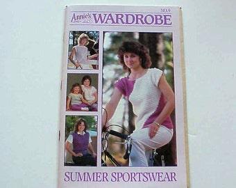 SALE - Annie's Wardrobe No. 9, Summer Sportswear, May. - Jun. 1986, Magazine of Crochet Patterns and More