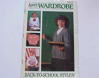 SALE - Annie's Wardrobe No. 11, Back-to-School Styles, Sep. - Oct. 1986, Magazine of Crochet Patterns and More
