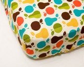 Custom Crib Sheet -Apples and Pears