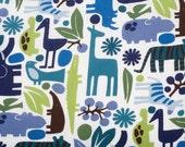 Custom Crib Sheet - 2 D zoo - Pool - Cotton
