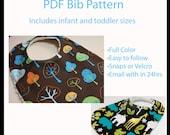 PATTERN - Boutique Bib pattern - Infant and Toddler sizes - Generous sizes - PDF -