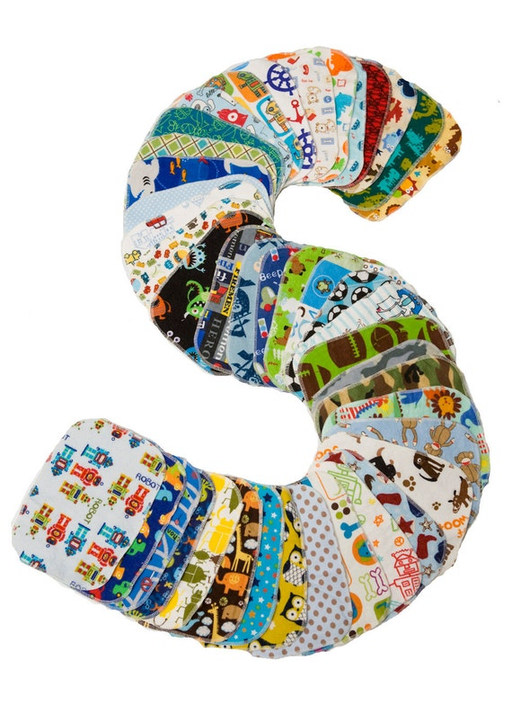 Wholesale - Sweet Bobbins Cloth Wipes - Set of 150 wipes - OBV and Flannel -8x8, plus 9 bibs