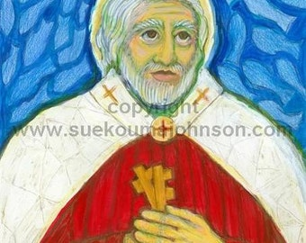 Confirmation Gift for Boys - St. Peter with the Keys of Heaven - First Pope - Archival Print