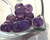 Agate- Purple Dragon Vein Faceted Fire Agate 10mm Rounds 12 pcs