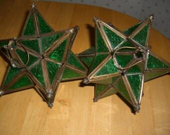 Vintage porch candle holders / set of 2