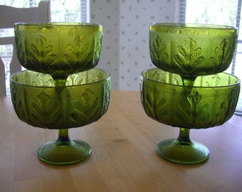 vintage vases /flower pots  /  4 pots from  F. T. D. florist  1978