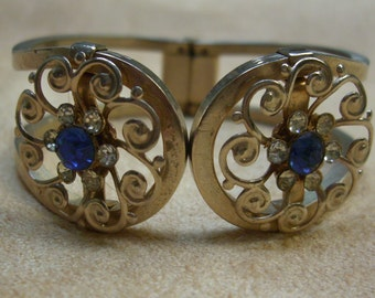 Vintage costume jewelry  / just reduced 2.00 off  rhinestone bracelet /CLOSING STORE SOON