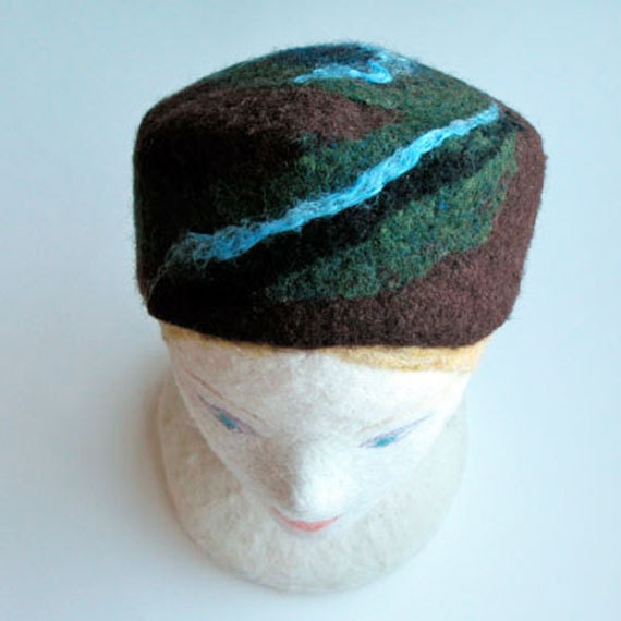 Felted Pillbox Hat for Men, Pillbox Hat for Women, Wool Tutorial, Hat Pattern, Diy Christmas Gift, Instant Download, Pdf Instruction