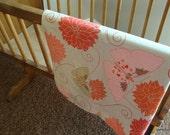 large crib size baby blanket - autumn mums