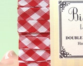 Bias Tape- Red Gingham- Double Fold