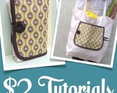 Two Dollar Tutorial and Pattern (PDF)- Bias Tape How To- POCKET PARCEL for Reusable bags