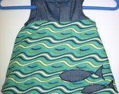 Reversable UNDERWATER FISH Jumper - SIZE SMALL (6-12 mos) MEDIUM(12-18 mos)