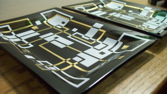 Atomic Eames Era Mid Century Modern Trays Gold, White, Black  Etsy by Domus Modern