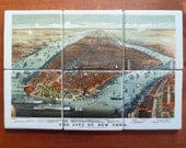 Antique New York Map Mural - MilestoneDecalArt