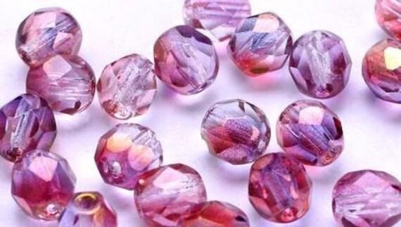 1417    Autumn Sunburst  Firepolished Glass Beads