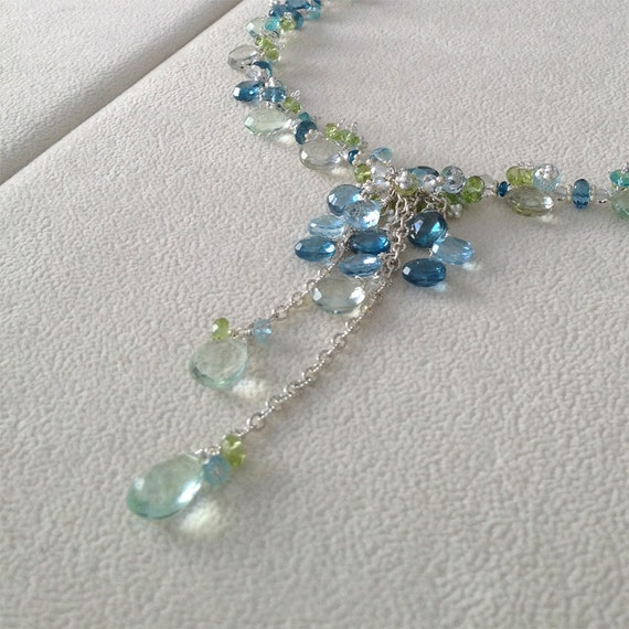 Semiprecious Gemstone Necklace - Reserved for C.