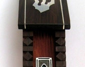 Hand-carved Mezuzah in the shape of a small HOUSE