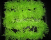 lime green Chandelle feather Boas 45 grams 2 yards long craft