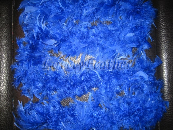 royal blue Chandelle feather Boas 40 grams 2 yards long craft