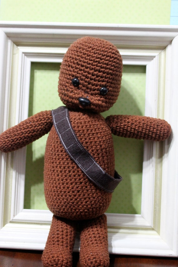 """Crocheted """"Wookie the Chew"""" Plush Amigurumi"""