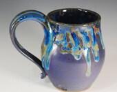 RESERVED for Keaton--Large Mug/Stein in Purple Rain Glaze--Holds 16 oz.--Wheel Thrown Stoneware Clay