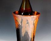Wine Chiller - Utensil Holder - Vase in Copper Lava Glaze - Wheel Thrown Stoneware Clay